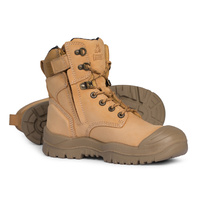 MONGREL High Leg Zipsider Boot w/ Scuff Cap (WHEAT)