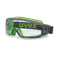uvex u-sonic Wide-Vision Safety Goggle (CLEAR)