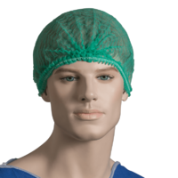 "Crimped Beret Hair Net 21"" Green (PACK OF 100)"