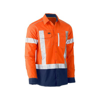 Bisley Flex & Move™ Two Tone Hi Vis Stretch Utility Shirt