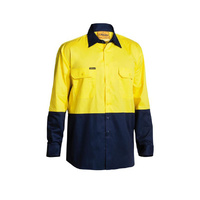 Bisley Two Tone Hi Vis Cool Lightweight Drill Shirt