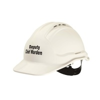 Tuffgard Force360 DEPUTY CHIEF WARDEN Hard Hat Vented White