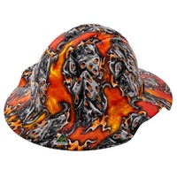 FORCE360 Hydro Dipped Full Brim Hard Hat Vented (FLAMING DICE)