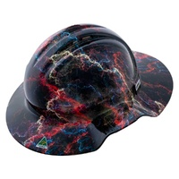FORCE360 Hydro Dipped Full Brim Hard Hat Vented (LIGHTENING)