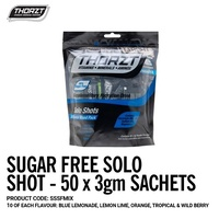 THORZT Sugar Free Solo Shot Powdered Hydration 50 x 3gm Sachets